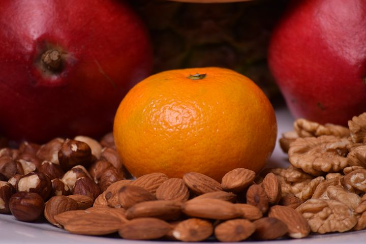 Antioxidants Rich Foods. almonds. walnuts. peanuts. orange. fruits. nuts. fruits and nuts. www.blisslife.in