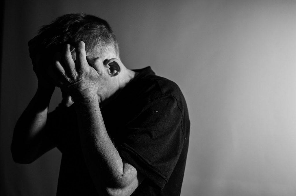 Get Rid of Frustration. stress. headache. man. www.blisslife.in