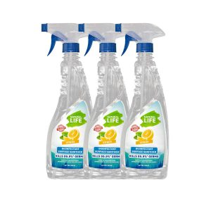 Natural Life FDA Approved Disinfectant Surface Sanitizer, Citrus 500 Ml (Pack Of 3)