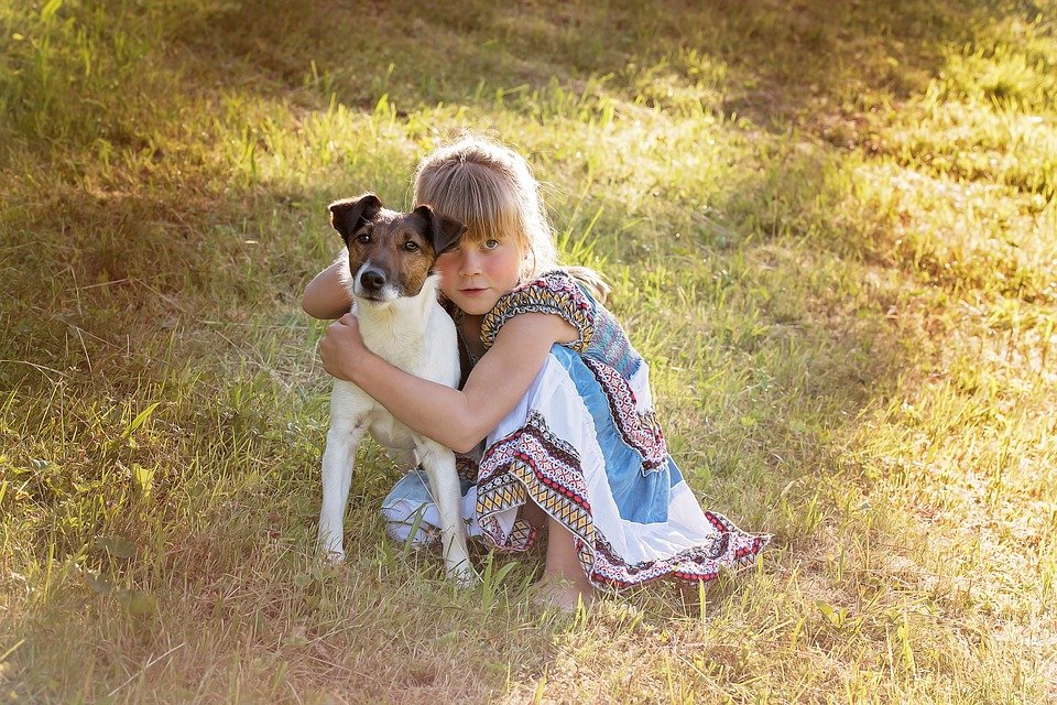 clean your mind.animal.pet.puppy.baby.kids.little girl.nature.play