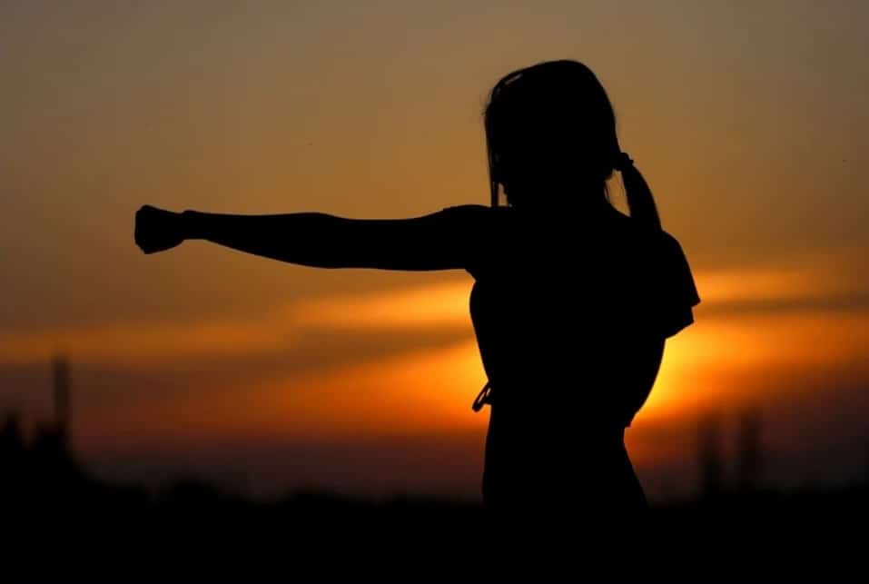 Health Benefits of Yoga. sunset. girl. strong. boxing .www.blisslife.in