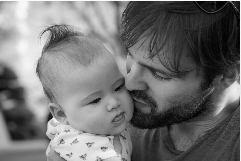 fatherhood. kid. relationship. child. dad. family. papa. father. kissing child. www.blisslife.in