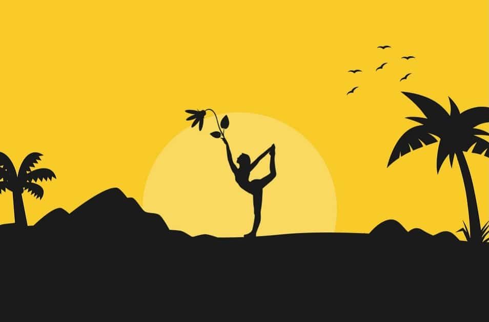 Health Benefits of Yoga. girl. dance. artistic. yellow. nature. leaf. www.blisslife.in
