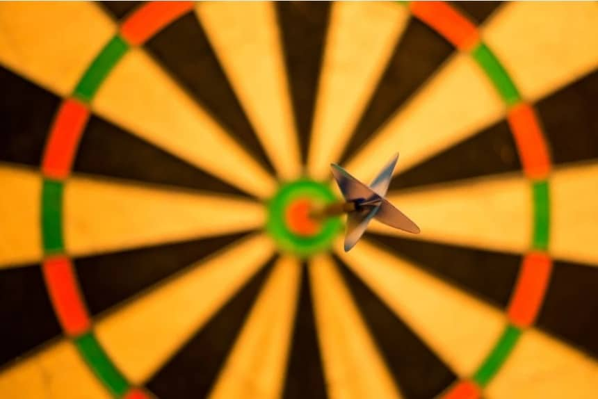 Fear of missing out. bull's eye. target. focus. concentration. www.blisslife.in